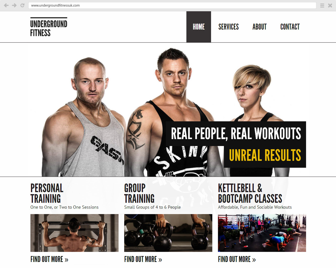 Underground Fitness Website